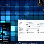 Blue Grid Visual style for Windows 7