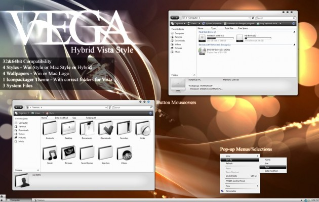 Vega theme for windows vista