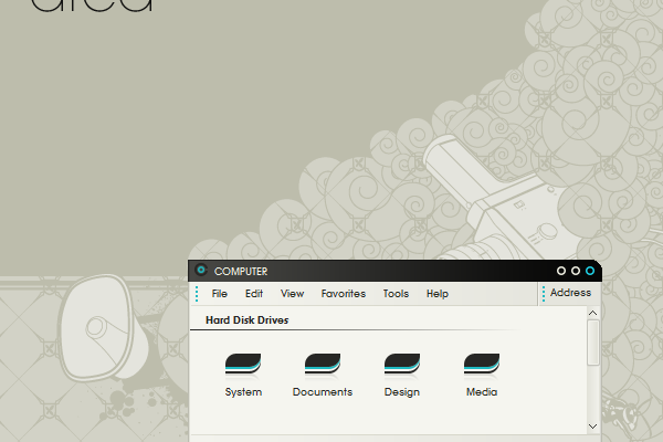 Area04 Desktop Theme for Windows xp
