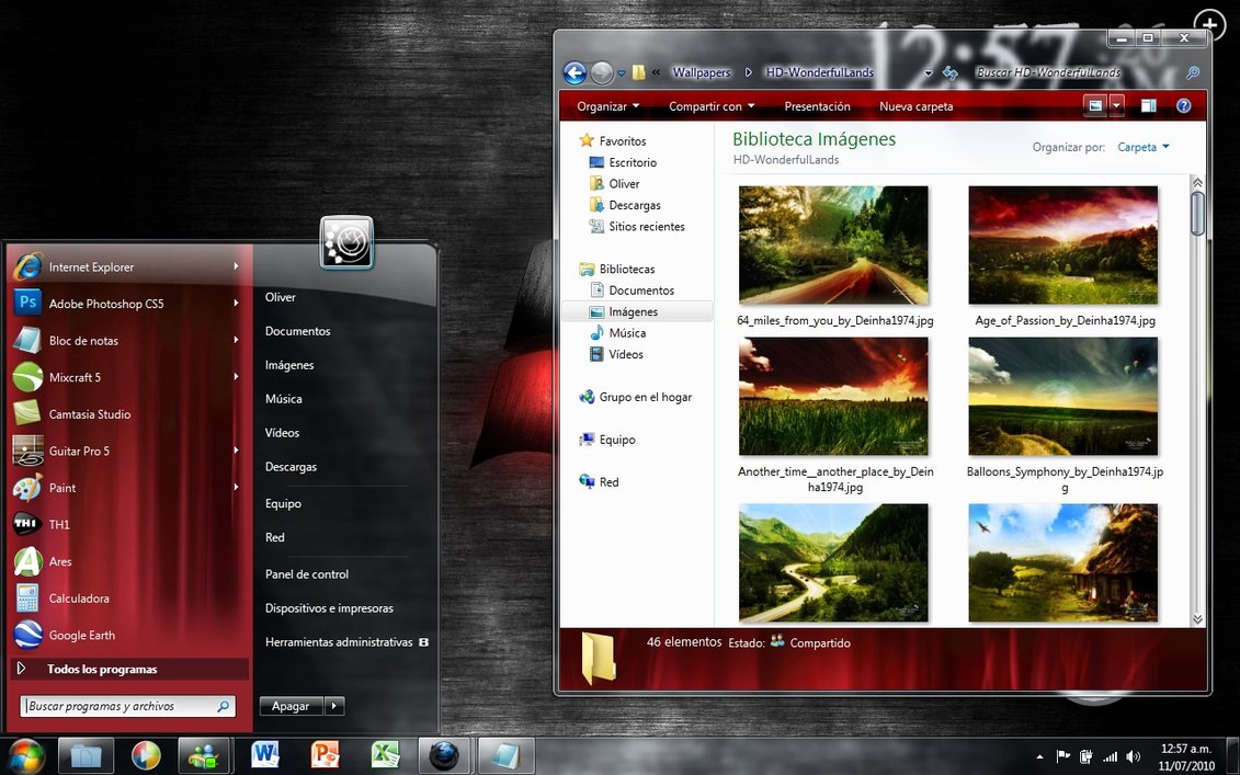 Alternative AE Visual Style for Windows 7 @ 50+ Stunning Windows 7 Desktop Themes