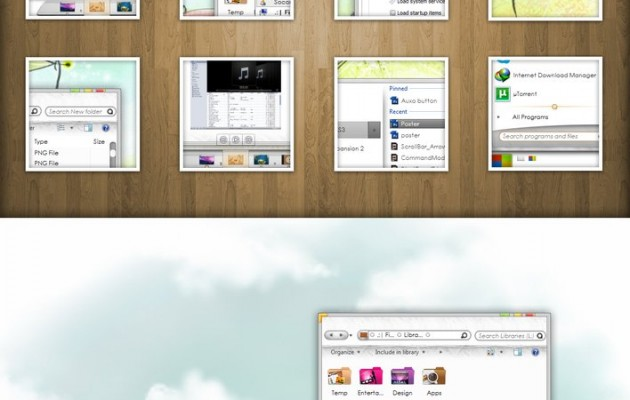 Auxo Summer Visual Style for Windows 7