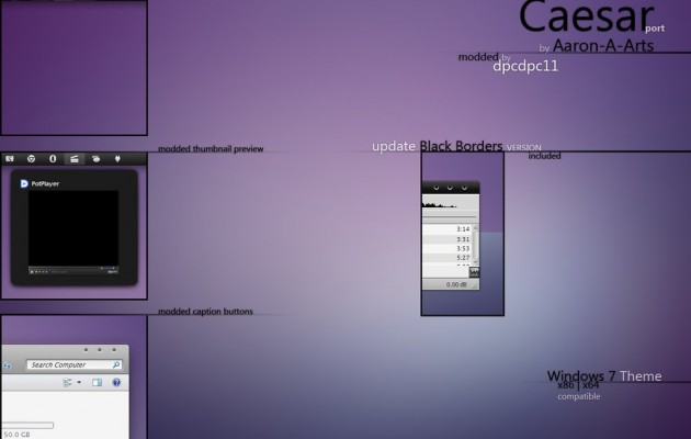 Caesar mod Visual Style for Windows 7