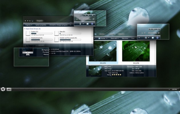Dark clear Final Visual Style for Windows 7