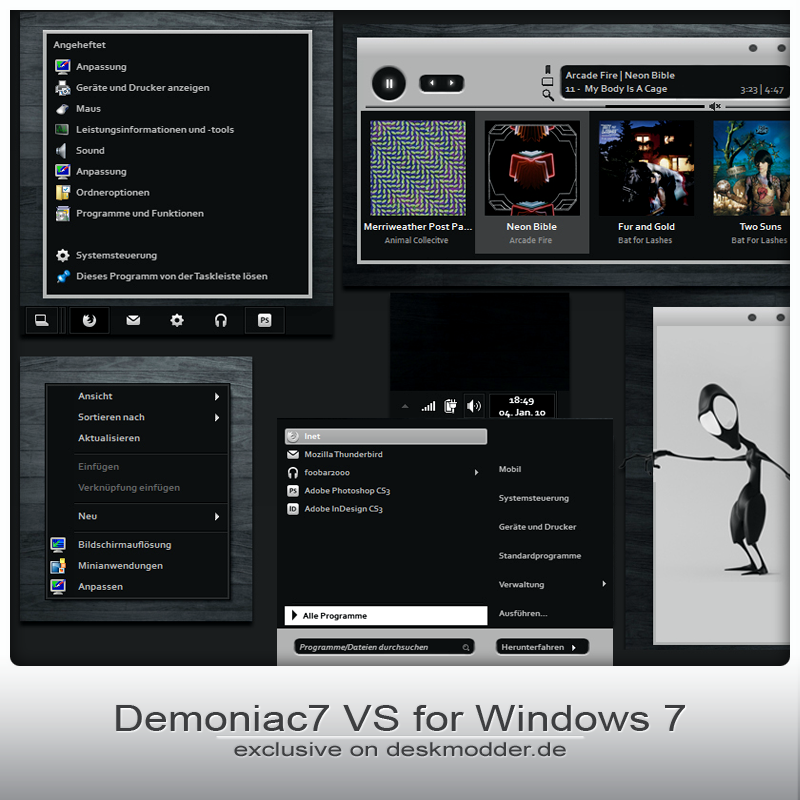 Demoniac 7 Visual Style for Windows 7 @ 50+ Stunning Windows 7 Desktop Themes