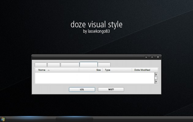 Doze visual windows xp theme
