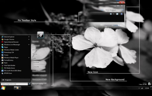 Elegant Glass V2 Desktop Theme for Windows 7