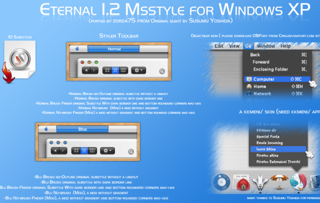 Eternal 1.2 Msstyle for windows XP