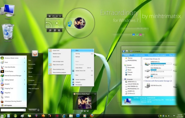 Extraordinary Visual Style for windows 7
