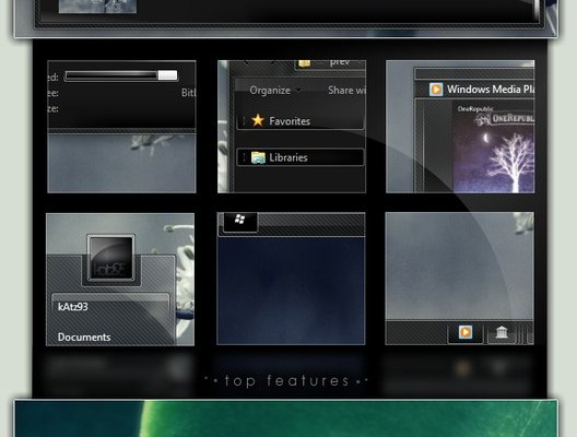 Gizdom Reloaded Visual Style for Windows 7