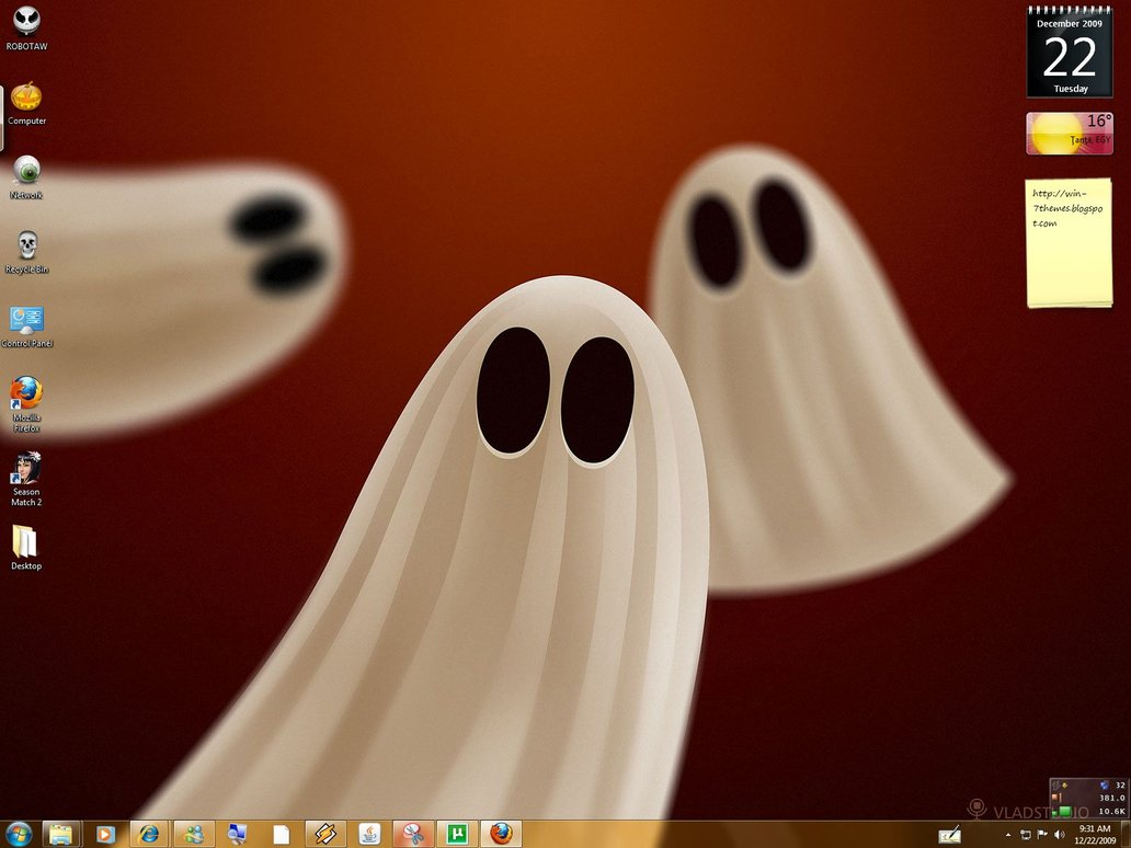 Halloween Windows 7 Theme @ 50+ Stunning Windows 7 Desktop Themes