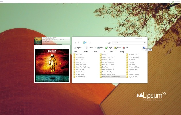 Lipsum VS Windows Vista Desktop Theme