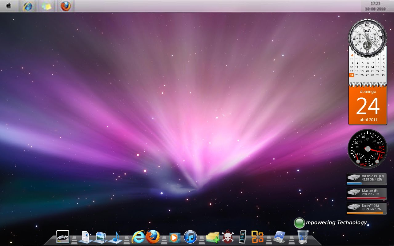 MACOS X VISUAL STYLE FOR WINDOWS 7 @ 50+ Stunning Windows 7 Desktop Themes