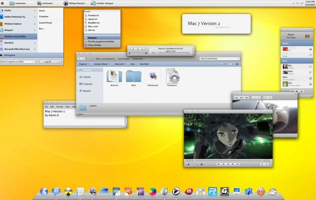 Mac 7 Version 2 Visual Style for Windows 7