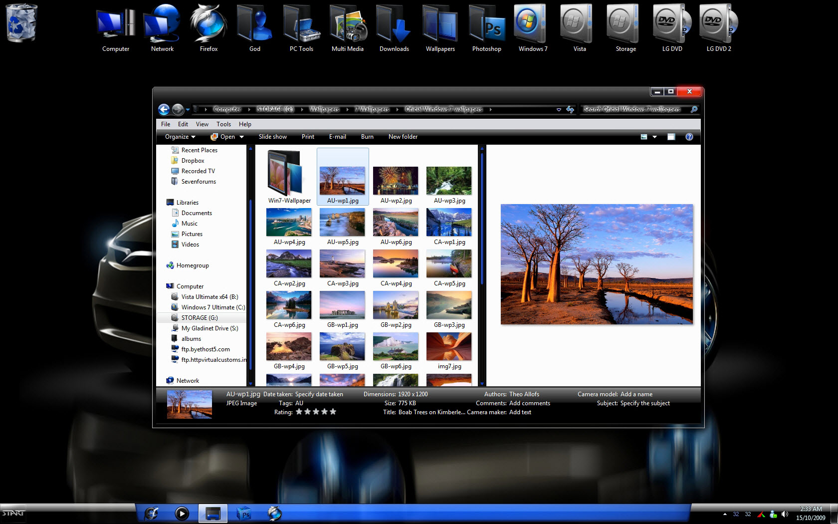NEON WINDOWS 7 THEME @ 50+ Stunning Windows 7 Desktop Themes