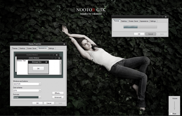 NOOTOR GTK Theme for windows XP