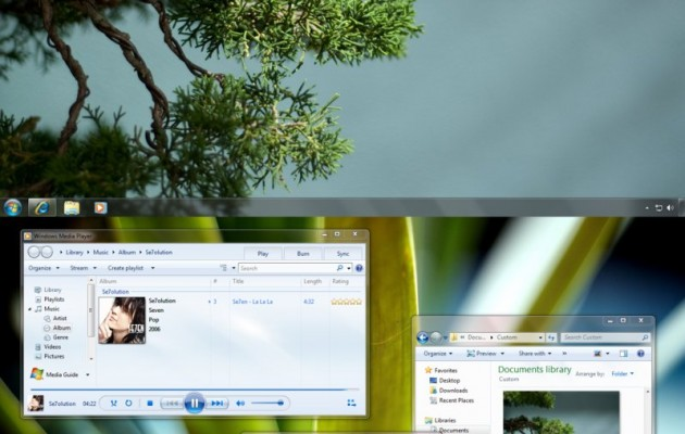 Natural visual style for windows 7