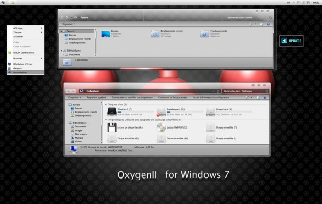Oxygen II Visual Style for Windows 7