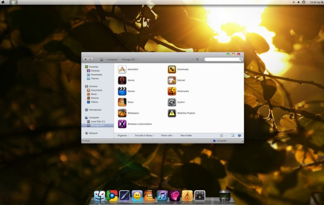 Snow Leopard Visual Style for Windows 7 (Beta3 x64)