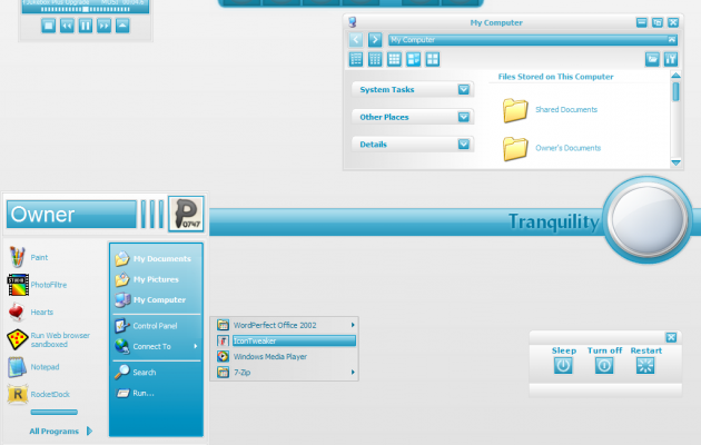 Tranquility Theme for windows XP