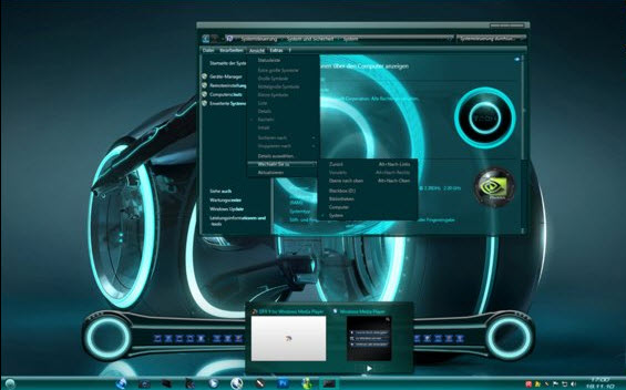 Tron Visual Style for Windows 7