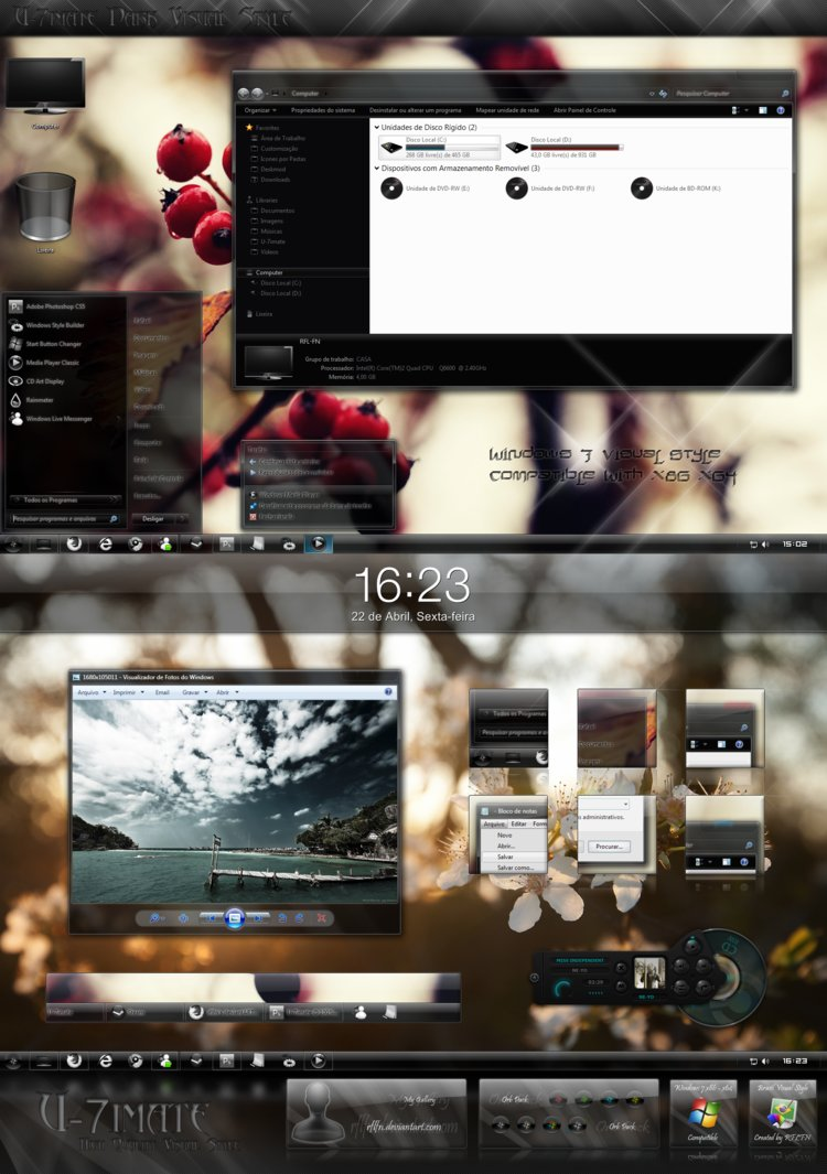 U 7imate Beta Visual Style for Windows 7 @ 50+ Stunning Windows 7 Desktop Themes