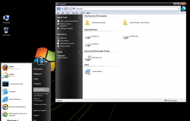 VistaVG Black for Windows XP