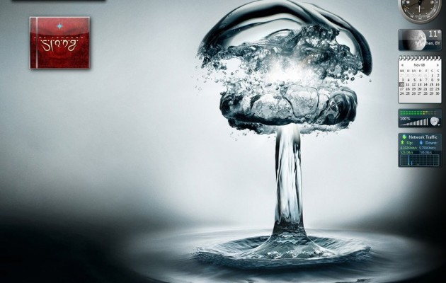 Water bomb visual style for windows 7