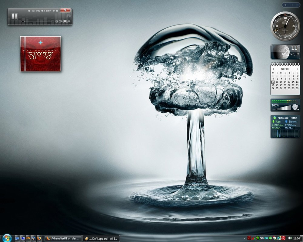Water bomb visual style for windows 7 @ 50+ Stunning Windows 7 Desktop Themes