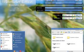 Watercolor Ergo Blue windos XP theme