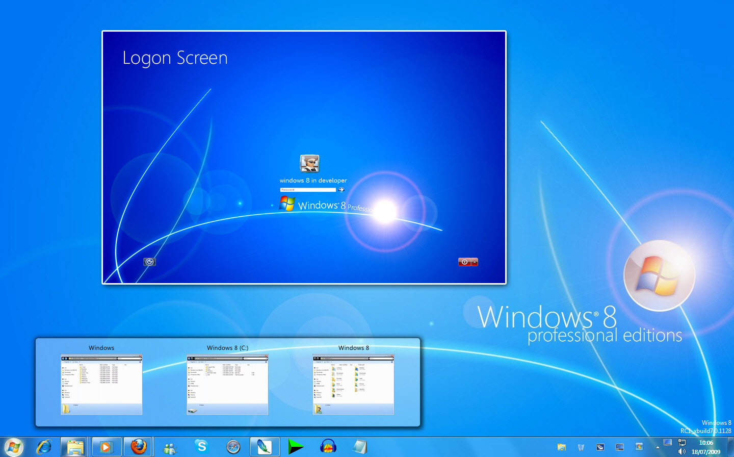 Windows 8 Transformation pack for Windows 7 @ 10+ Windows Transformation Packs To Enhance Desktop Experience