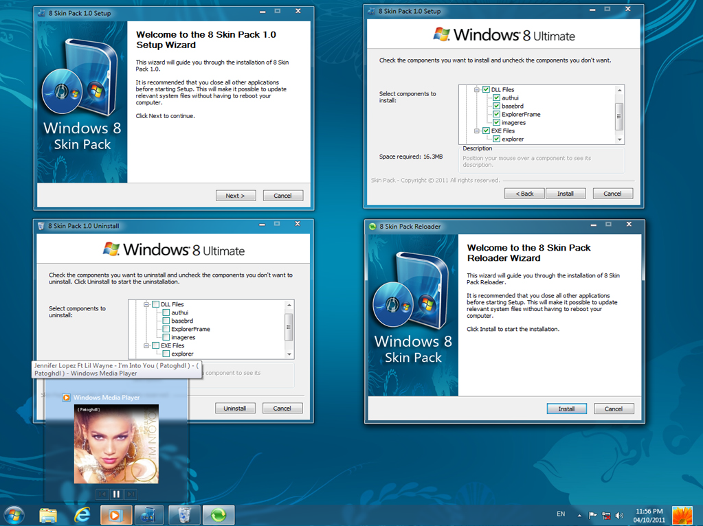 Windows 8 skin pack 1.0 @ Windows 8 Skin Pack 1.0 for Windows 7