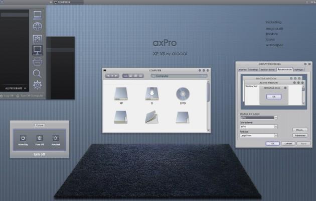 axPro windows xp theme