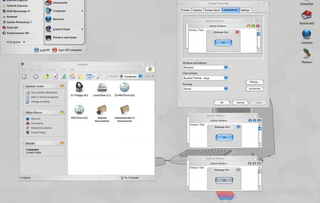Otium v2.4 windows xp theme