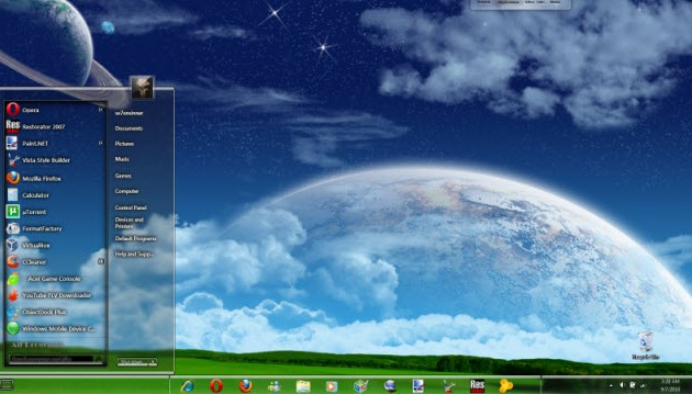 how to change desktop theme in windows 7