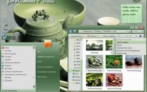 Green Tea Theme for Windows 7
