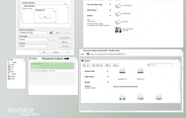 Invoice windows xp theme