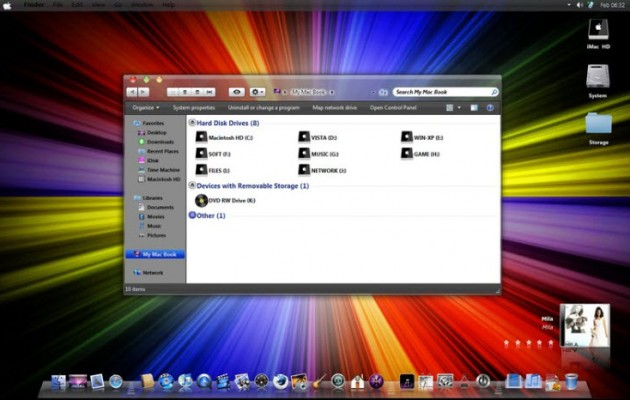 Leopard Dark Visual Style for Windows 7
