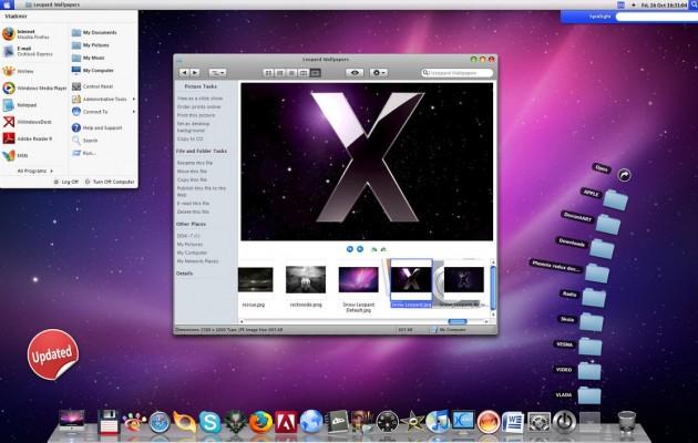 Leopard-X theme for windows xp