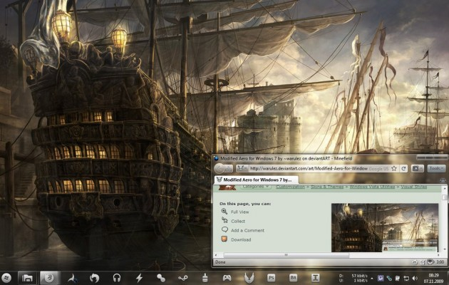 Modified Aero Desktop Theme for Windows 7