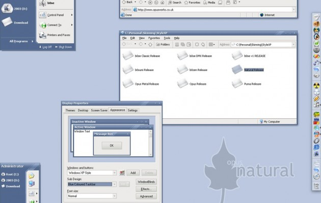 Opus Natural theme for windows xp