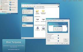 Blue Turquesa theme for windows xp