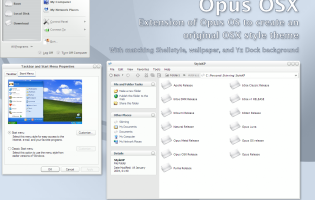 Opus OSX windows xp theme