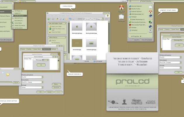 proLCD theme for windows xp