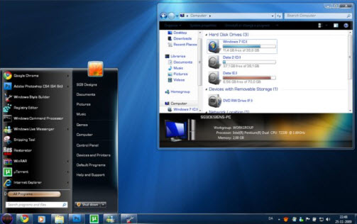 Steel Flash Reborn Visual Style for Windows 7