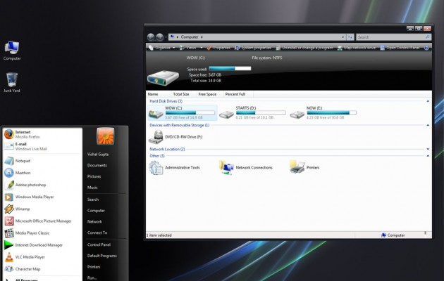 Vista Black for windows xp theme
