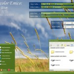 Watercolor Emico Olive theme for windows xp