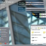 Watercolor Emico Silver theme for windows xp