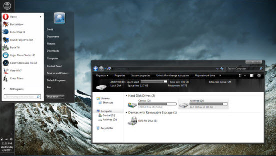 Windows 7 Graphite Theme