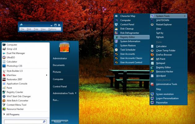 Basic Plastic Blue Theme for Windows 7 @ Desktop Themes