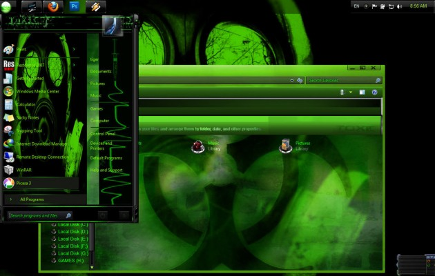 Biohazard Theme for Windows 7